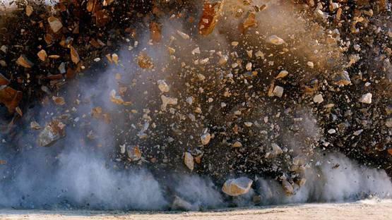 Naoya Hatakeyama - Still from Twenty-Four Blasts (detail), 2011, HD video installation, photo credits of the artist