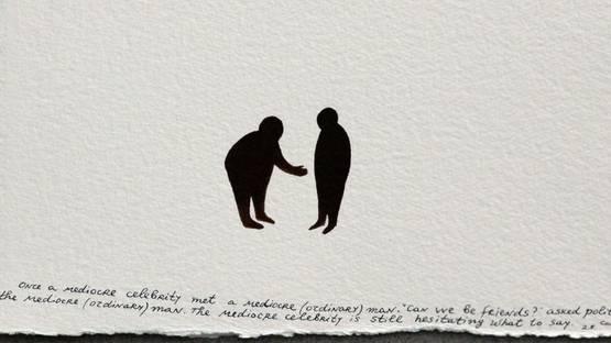Nedko Solakov - Friends (detail), 2013, photo credits - Artsy