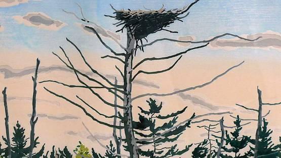 Neil Welliver - Osprey's Nest, 1979 (detail)