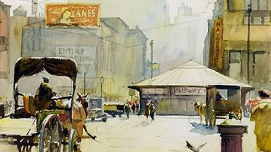 Nelson Chase - A Boston Scene (detail)