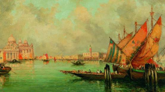 Nicholas Briganti - Venetian Canal (detail), photo credit skinnerinc