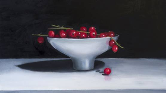 Nicola Currie - Redcurrants in a Ceramic Bowl, 2019 (detail)