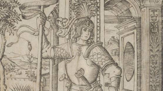 Nicoletto de Modena - St. George (detail), photo via metmuseum org