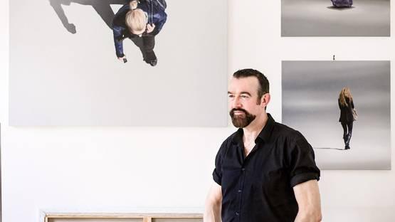 Nigel Cox - Portrait of the artist (Detail), image via Eventusmagazinecom