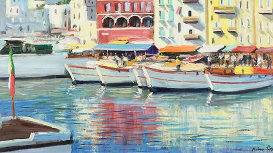 Nino Pippa - Capri Marina Grande (detail), photo by Susanin