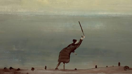 Norbert Schwontkowski - Alte Frau am Meer (detail), 2005, photo credits Burger Collection