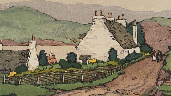 Norma Bassett Hall, Cottage in Skye (detail)