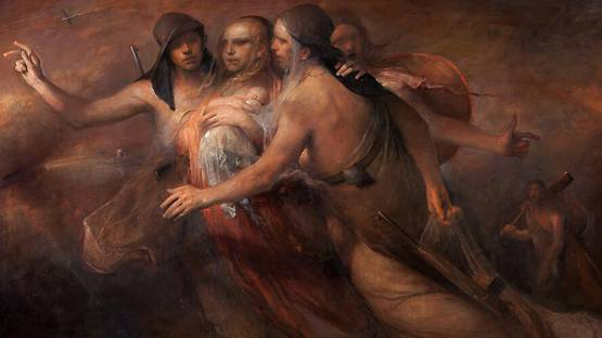 Odd Nerdrum - Crossing the Border (detail), photo credits of the artist