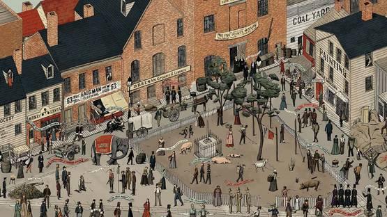 Oliver Blake - Gangs of New York (Detail) - Courtesy of Spoke Art