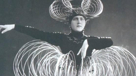 Oskar Schlemmer - Spiral costume (detail), 1926, photo via thecharnelhouse org
