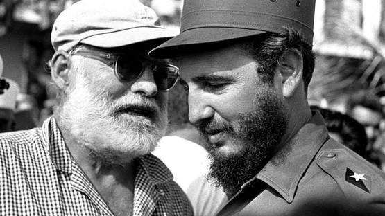 Osvaldo Salas - Fidel y Hemingway (detail) - 1960