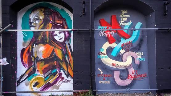 "urban art - wesr & rylsee + otto baum - berlin, urban spree ""arc"