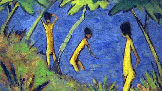 Otto Mueller - Landscape with Yellow Nudes (detail) - 1919 - MoMA - photo credits - Wikimedia