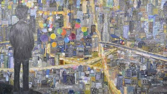 Ouyang Chun - Autism (detail), 2012, oil on canvas, 260x370cm, photo via en cafa com cn