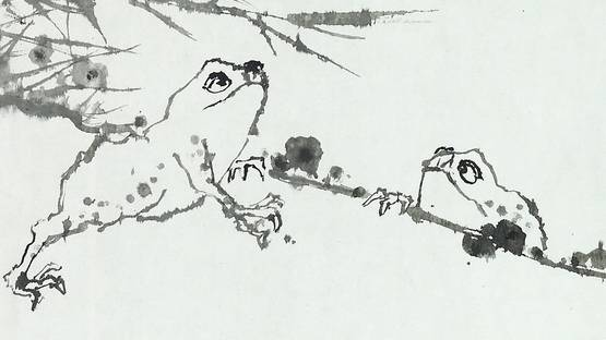 Pan Tianshou, Ink Frogs (detail), 1961, photo credits Asian art