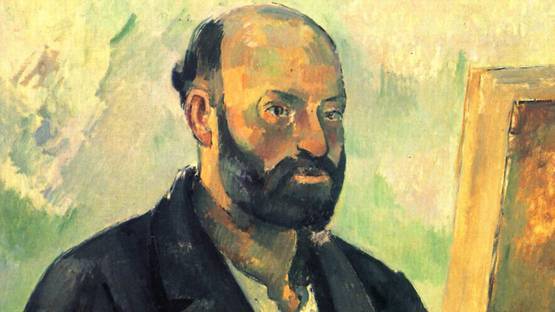 Paul Cezanne - Self-Portrait with Palette (detail) - 1890 - photo credits - Wikiart