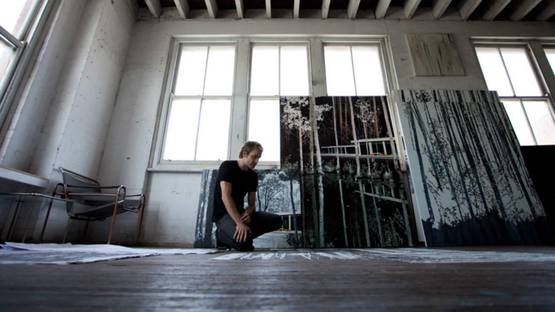 Paul Davies - Artist portrait, photo via snakesandladderstv
