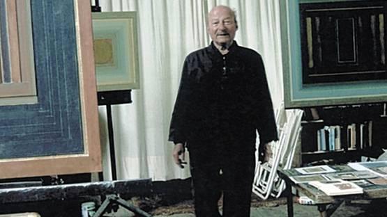 Paul Feiler in his studio (detail), photo by Karin Szekessy, via Independent