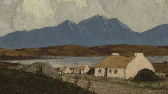 Paul Henry - Cottages, West of Ireland (detail), 1928-30, photo via gandalfsgallery blogspot com