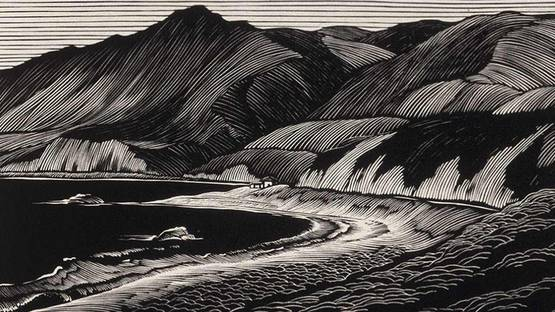 Paul Landacre - Hills and The Sea (detail), 1931