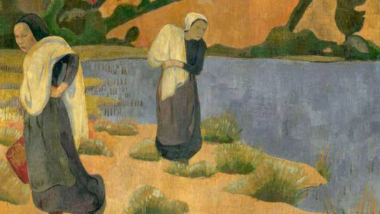 Paul Serusier - The washers at Laita (detail), 1892, photo via The Red List