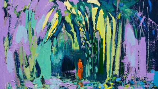 Paul Wadsworth - Reflections Of A Orange Sari, 2017 (detail)