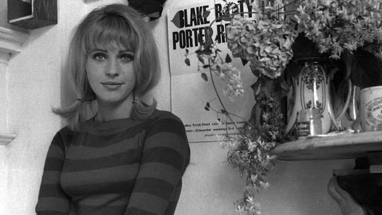 Pauline Boty - Photo of the artis by John Aston, 1962 - Image via flashbak