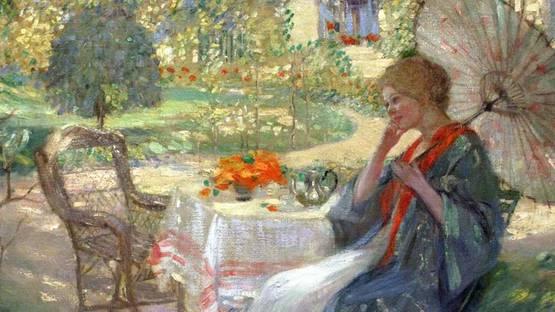 Pauline Palmer - Woman in a Garden (detail), photo credit Smithsonian