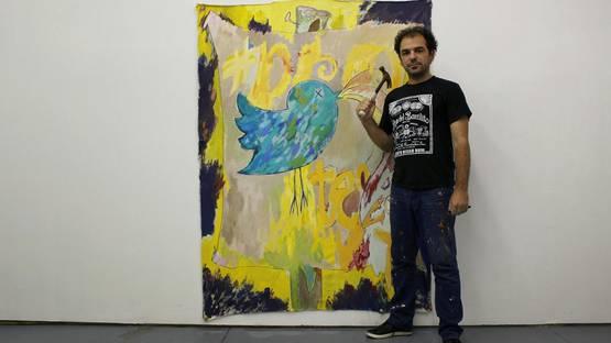 Pedro Velez - artist, photo by Rodney Rogers, 2014