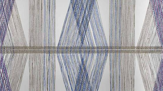 Peter Collingwood - Polychrome Macrogauze Wall Hanging (detail)