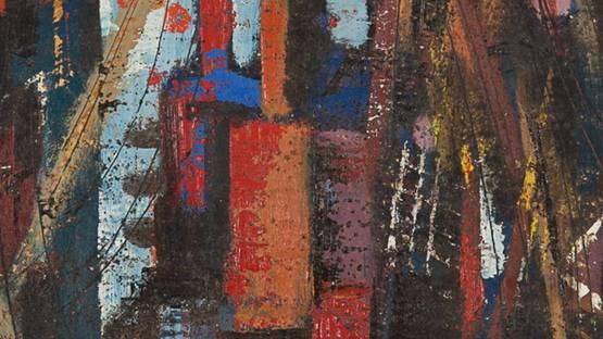 Peter Paul Dubaniewicz - In Port (detail) - image via graysauctioneerscom