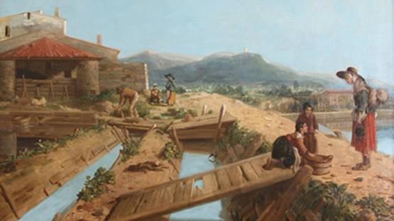 Philippe-Auguste Jeanron - Les Salins-d'Hyères, 1863 (detail)