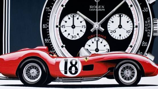 Philippe Burlet - Ferrari Rolex (detail), image courtesy of the artist