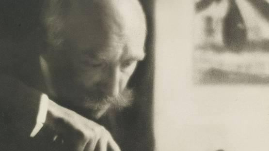 Pierre Dubreuil - Self-portrait, circa 1909 - Photo by Pierre Dubreuil