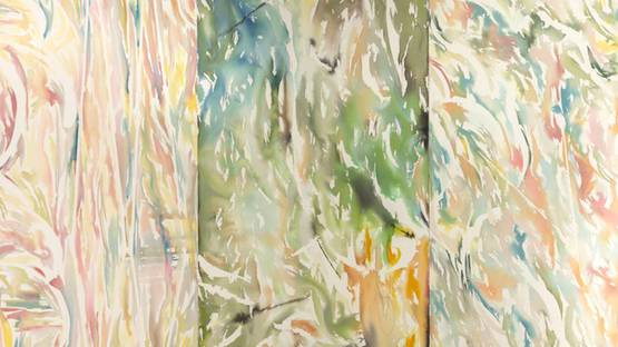 Piotr Makowski - Triptych STC (detail), 2016, inks and watercolors on canvas, photo credits of the artist