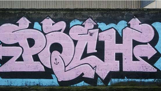 Poch - graffiti in Rennes, France
