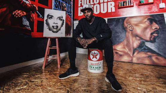 Portrait of Detour in his studio - image courtesy of the artist