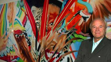 Portrait of James Rosenquist - image courtesy of EFE