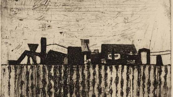 Prunella Clough - Corrugated Fence,  1955