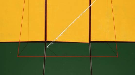 Qian Jiahua - Flow (detail), 2013, acrylic on canvas, 150×135cm