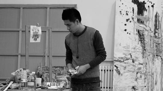 Qiu Xiaofei in his studio - image courtesy of Pace Gallery