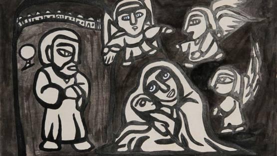 Raimundo de Oliveira - The Adoration, 1963 (detail)