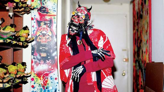 Rammellzee - Collection of the Artist's Masks - image via radicalpresenceny.org