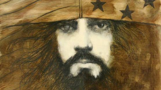 Ramon Santiago - Self-Portrait (in Flag Cap), 1971 (detail)