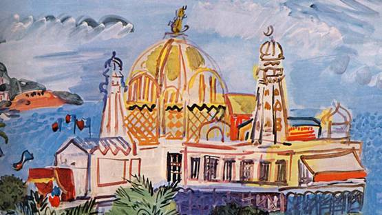 Raoul Dufy - The casino of Nice, 1929 (detail)