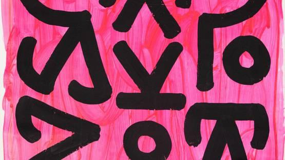 Raul33 - Pink Nomadic Sign, 2019 (detail)