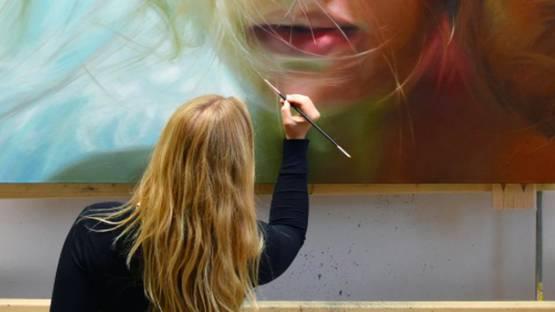 Reisha Perlmutter - work in progress - photo courtesy of Galerie Benjamin Eck