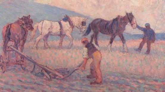 Robert Bevan - The Turn Rice-Plough, Sussex - Image via wikimedia