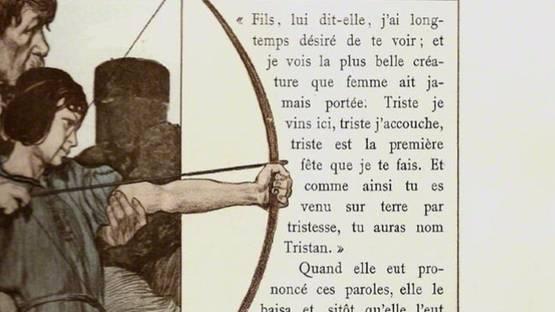 Robert Engels - Le roman de Tristan et Iseut, 1900 (detail) - image courtesy of Sylvan Cole Gallery