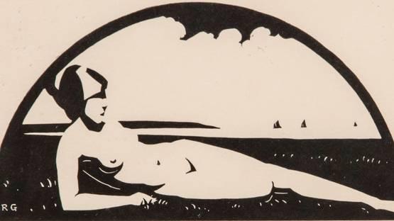 Robert Gibbings - Reclining Nude, 1921